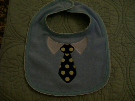 Dressed For Success-baby, bib, tie