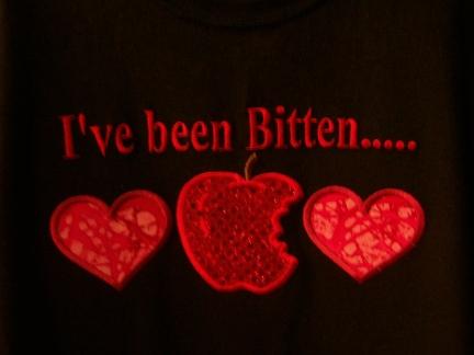 I've Been Bitten-close up-Twilight, shirt