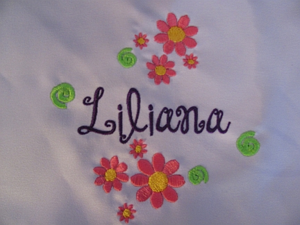 Add ons--flowers-embroidered, flowers, monogram, name