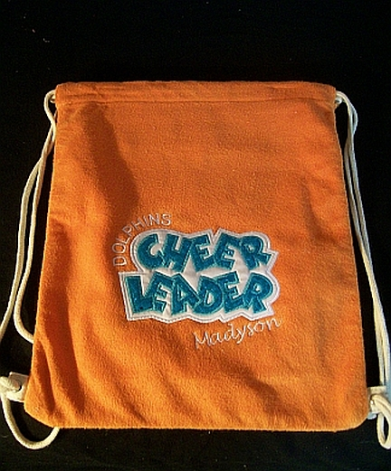 Dolphins Cinch Bag-embroidered,cinch,bag,cheerleader,Dolphins