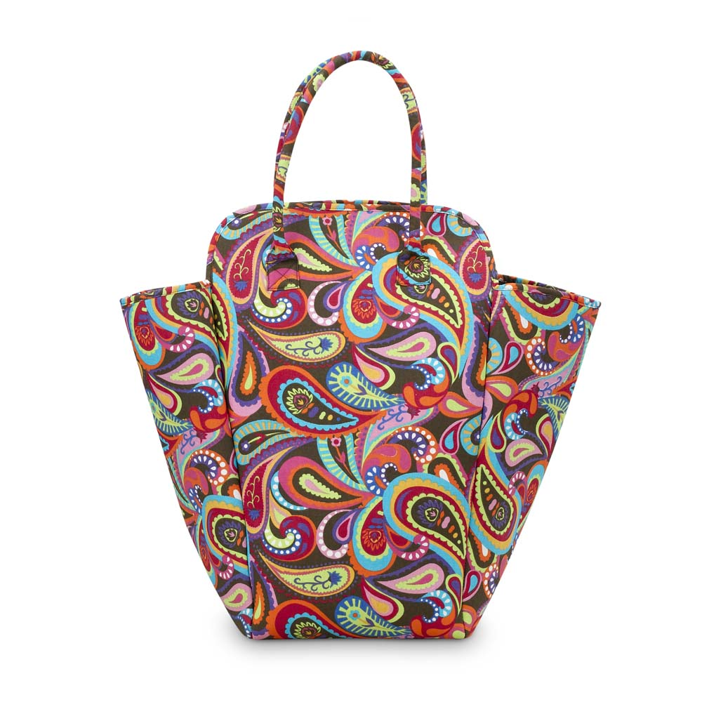 Buckhead Betties EVA Hamper-Paisley Pizzazz-Buckhead Betties, Eva, hamper, tote, paisley,flower,embroidered, Imperial Girl