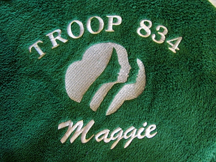 Girl Scout Throw-embroidered, throw, Girl Scout, girl