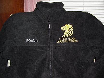 LFCA school fleece jacket-embroidered, design, school, group,