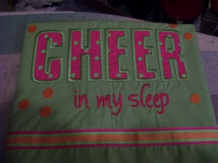 Cheer in my sleep-pillowcase,pillow case,cheer,girl