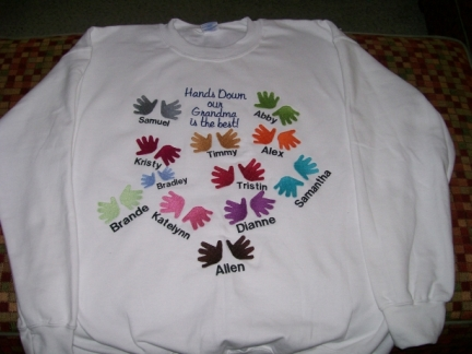 Hands Down...Grandma-shirt, grandma, family, hands