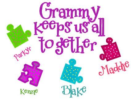 Grandma's Puzzle-grandparent, puzzle, shirt