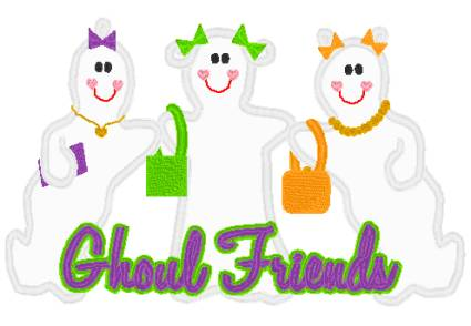 Ghoulfriends-Halloween, embroidered, shirt, girl