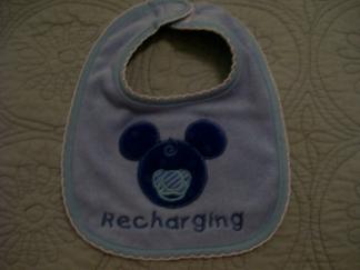 Recharging-bib, onesie, mouse,pacifier