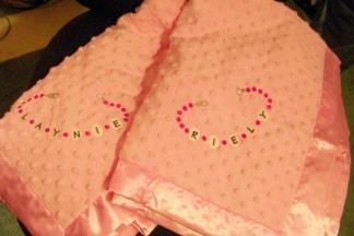 Baby Bracelet Blankets-baby, embroidered, blanket, bracelet
