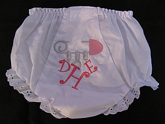 Bloomers-Traditional diaper pin-embroidered, diaper, bloomers, panty, pin, baby