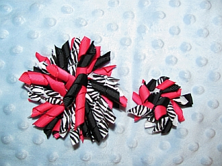 Gals 'n Dolls I Love Cupcakes korker bows-korkers, cupcakes, matching, doll clothes, bow