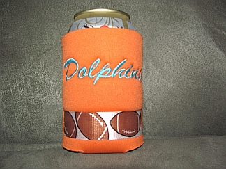 Dolphins Can Koozie-embroidered,koozie,can,Dophins,football