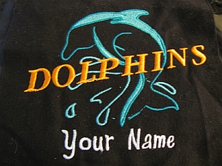 Dolphins Stadium Blanket-embroidered,stadium,blanket,Dolphins,name
