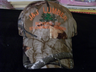 J & J Lumber Cap-embroidered, cap, company, design, group
