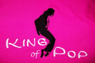 King of Pop-embroidered, Michael Jackson, music, shirt