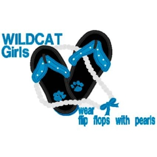 Flip Flop and Pearls- Wildcats-Wildcats, flip flop, team