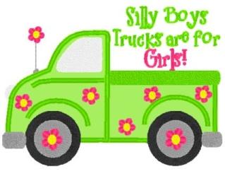 Girl's Truck shirt-Shirt, truck, girl