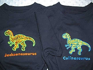 Name-asaurus-T-shirt, embroidered, dino, dinosaur, kid