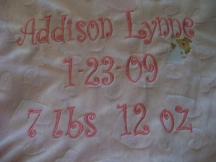 Keepsake Baby Blanket with Hanging Angel-blanket, baby, embroidered, keepsake, gift