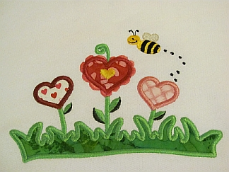 Hearts Garden-embroidered, hearts, Valentine's, shirt