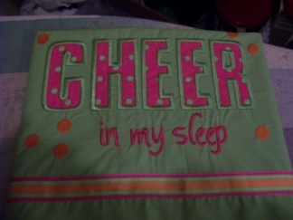 Cheer in my sleep-pillowcase,pillow case,cheer,girl