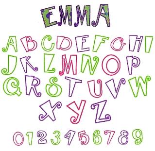 Emma - Applique Font-font, applique