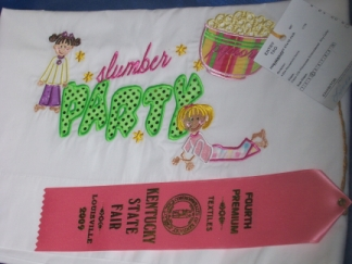 KY State Fair Ribbon Winning Pillowcase-