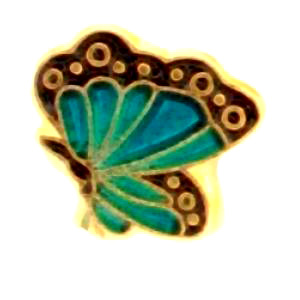 Blue Butterfly Charm-Forever in My HEart, jewelry, charm