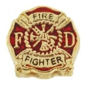 Fire Fighter Charm-Forever in My Heart, locket, charm