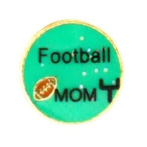 Football Mom Charm-Forever in My Heart, jewelry, charm