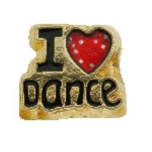 I Love Dance Charm-Forever in My Heart, locket, charm, jewelry