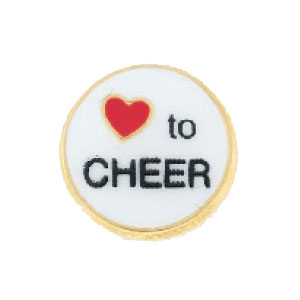 Love to Cheer Charm-Forever in My Heart, jewelry, charm