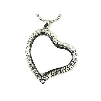 Forever in My Heart CZ Locket-Forever in My Heart, locket, jewelry, heart