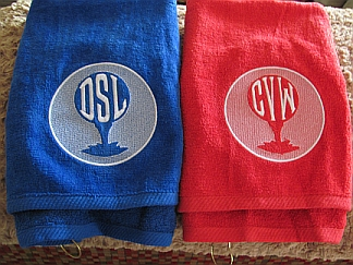 Monogrammed Golf Towel-embroidered, towel, golf, monogram