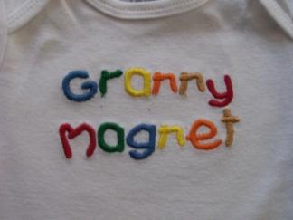 Granny Magnet-baby, onesie, granny