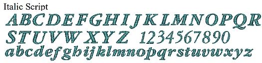 Itallic Script-