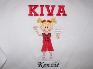 Volleyball fringe girl-volleyball, girl, fringe, sport