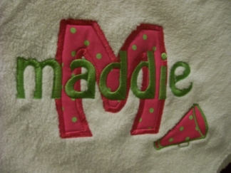 Appliqued Initial with Name Throw-initial, name, throw