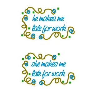 Late For Work Pillowcases-pillowcase, pillow case, embroidered, gift, couple