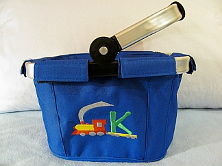 "Mini Market Tote with ""Kid Motif-Add on""-embroidered, mini, tote, gift, baby"