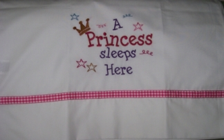 A Princess Sleeps Here-pillowcase, princess, pillow case