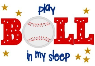 Play Ball in my Sleep Pillowcase-baseball, pillowcase, pillow case