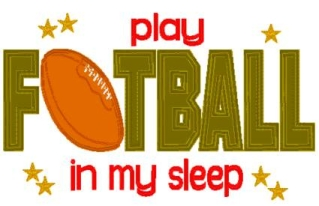 Play Football in my Sleep Pillowcase-pillowcase, pillow case, football, boy